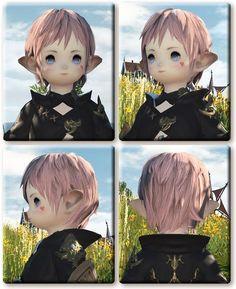 【FF14】ララフェル女性の髪型