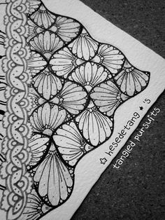 https://flic.kr/p/yDTwcb | Cadenza - a new tangle | This is an example of my new tangle, Cadenza. It is based on an official Zentangle pattern called the Cadent. ... Please feel free to use the step outs to recreate Cadenza in your tangles. However I reserve my rights to these images and they should not be copied or reproduced. Thank you! - Debbie New CZT 18