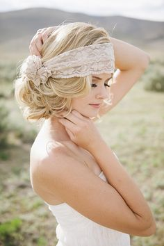 the lace headband