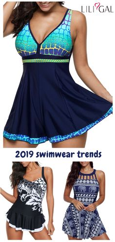 Cute Swimsuits for women 2019 Great recommended printed swimsuits for women, cute and comfy, you must try on beach vacation. Click and find the 2019 swimsuit trends in Liligal. Plus Size Swimsuits, Cute Swimsuits, Mode Outfits, Fashion Outfits, Womens Fashion, Vintage Swimsuits, Beachwear, Swimwear, Swim Dress