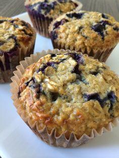 {Receta} Muffins de Proteina- Arándanos azules – Come Limpio
