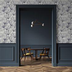 Papiers peints - Panoramique intissé 150g - 48x1000m bobine Decor, House Design, Deco, White Baseboards, Gray Interior, Wainscoting, Interior Design Boards, Home Interior Design, Classic Decor