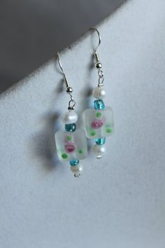 The White Rose EarringsSpring Time Jewelry by LeilaniJewelryDesign