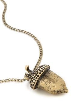 Acorn!!!!! Oak My Gosh Necklace, #ModCloth