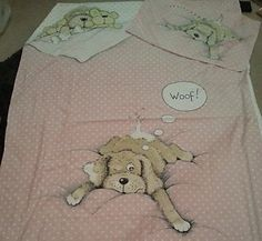 Snatch the Dog bedding .... my little sister had Snatch everything down to the light shade!