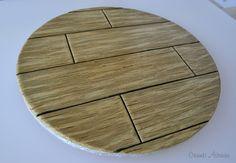 Wood Effect Cake Board Tutorial