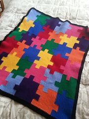 Ravelry: Crochet Autism Awareness Graph Afghan Blanket pattern by Julie Trimpe