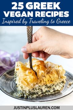 Spanakopita Recipe, Vegan Feta Cheese, Vegan Greek, Greek Dishes, Vegan Main Dishes, Spinach And Feta, Queso Feta, My Best Recipe, Greek Recipes