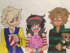 Awww this is cute!!! (NOT MY ART, credit for who ever made this)   Aww i ship Garmau (Garroth and Aphmau  Garroths on the right :D