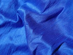 Royal Blue Pure Silk Dupioni, Raw Silk. from indianlacesandfabric by DaWanda.com