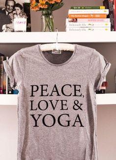 Peace, Love & Yoga T-Shirt | Deliciously Ella