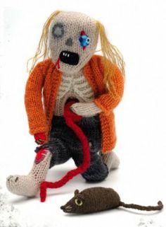 Free Zombie Knitting Pattern #craft #diy #pattern  Free craft and Knitting pattern