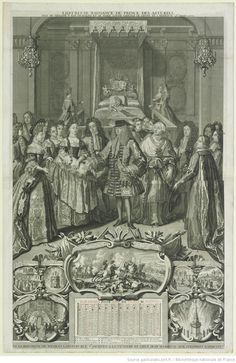 L'HEUREUSE NAISSANCE DU PRINCE DES ASTURIES. / FILS DE PHILIPPE V . ROY D' ESPAGNE ET DE MARIE LOUISE GABRIELE DE SAVOYE NÉ A MADRID le 25.¦e¦ Aoust 1707. : [estampe] - 1708
