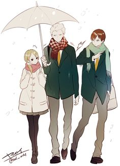 pixiv is an illustration community service where you can post and enjoy creative work. A large variety of work is uploaded, and user-organized contests are frequently held as well. Kagehina, Iwaoi, Tsukishima Kei, Karasuno, Haikyuu Anime, Pretty Boys, Cute Couples, Fan Art, Animation