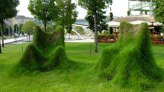 Grass Chairs in Budapest Hungary Taken by CyberMacs