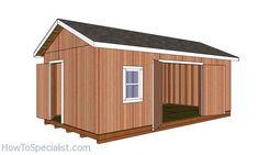 Shed Building Plans, Diy Shed Plans, 12x20 Shed Plans, Building Ideas, Cheap Sheds, Cheap Storage Sheds, Tool Storage, Diy Storage, 12x24 Shed
