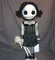 Etsy Dark Team: Creepy Goth Girl Rag Dolls