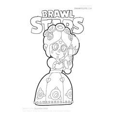 Piper from Brawl Stars coloring page #brawlstarsmemes #