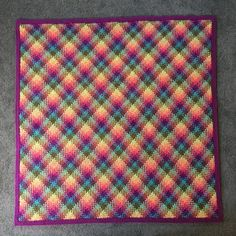 Colourful crochet planned pooling blanket. http://www.ravelry.com/projects/cuddlycritter/planned-pooling-blanket-2