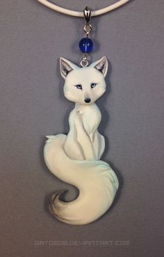 I sculpted a new fox necklace recently Thanks to my recent move to resin, I was able to make it smaller, and with a finer tail-connection. I'll be making more of these as well. [ resin cast from or...