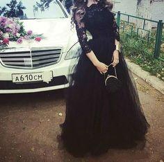 2016 Elie Saab #Prom Dresses# With 3/4 Long Sleeves Black Lace Tulle Appliqued Celebrity Formal Dress