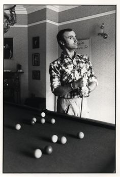 The fact he's playing pool, the Trick of the Tail poster in the background, Phil's wut? Phil 3, Peter Gabriel, Phil Collins, Bad Timing, Memoirs, Singers, Bathing, Bands, Artists