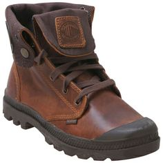 Buy Brown Palladium Women's Baggy Leather Lace-Up Boot shoes