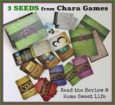 Home Sweet Life Blog ~ 3 Seeds is a wonderful unpack-and-go style of card game where you can learn the basic game in 5 minutes or less. It is designed for ages 12 and up, but if your 9-11 year olds have been playing card games for a while you should be able to include them as well. I would rank the difficulty of strategy required about half-way between Old Maid and Euchre. I know that is a broad range, but I really see the appeal of this quick game (about 30-35 minutes) for a wide range of…
