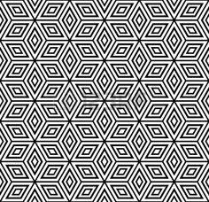 Seamless geometric pattern. Vector illustration. Stock Photo - 9223000