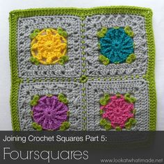 Block a Week CAL 2014 Part 5: Joining Crochet Squares into Foursquares 800x800 Block a Week CAL 2014
