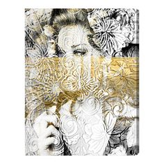 Bloom Graphic Art on Wrapped Canvas