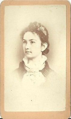 CDV PHOTO BEAUTIFUL YOUNG VICTORIAN GIRL LENA CEDENO