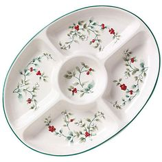 Pfaltzgraff Winterberry Oval 5-section Server - Overstock ...