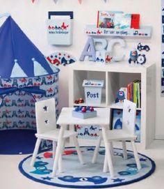 kids concept Kinderteppich Autoteppich Turbo rund blau, rot 120 cm, 100% Wolle | Leolinchen - zauberhafte Kinderdinge