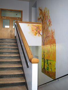 Denver Waldorf School Hallway- would love to do a 4 seasons tree like this