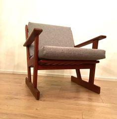 Vintage 1970's Danish Teak Arm Chair Lounge Chair Mid Century COURIER
