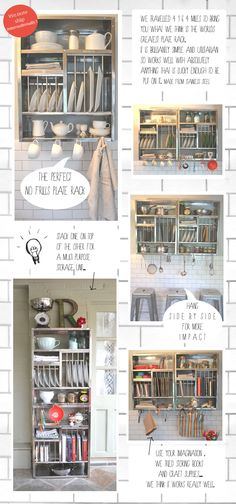 the plate rack - for the corner in the back of the kitchen.