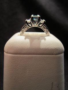 Menashe & Sons Jewelers Custom Blue diamond ring