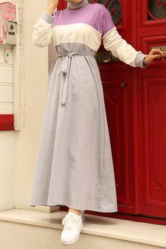فستان بنفسجي قطن بوليستر تسوق أون لاين حجاب مودانيسا أزياء محجبات ملابس محجبات فساتين جلباب عباية مل Muslim Women Clothing Islamic Clothing Abaya Dress