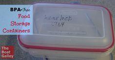 BPA Free Food Storag