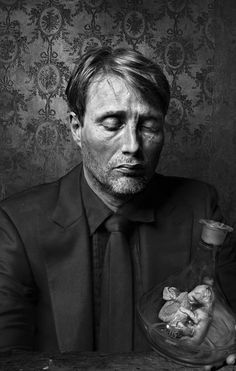 #portrait Mads Mikkelsen - Andrzej Dragan from Jagten, one of the best films I have seen. Sad though.