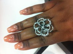 My Silpada ring. It's all in the flower power.