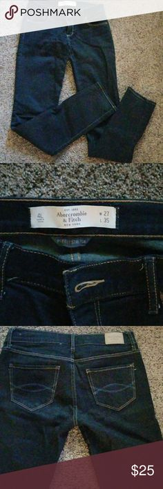 Abercrombie and Fitch jeans excellent condition Abercrombie and Fitch dark wash jeans excellent condition Abercrombie & Fitch Jeans Straight Leg