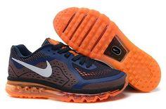 best website 1b210 af358 Shop Nike Air Max 2014 Mesh Black Navy Blue Orange Lastest black, grey, blue  and more.