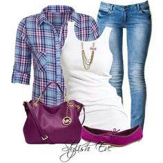 Love the color combo. Casual chic