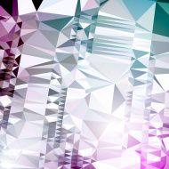 Futuristic Glitch Art Distortion Retro Polygon Abstract Glamour