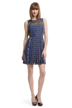Tibi Pleated Print Dress