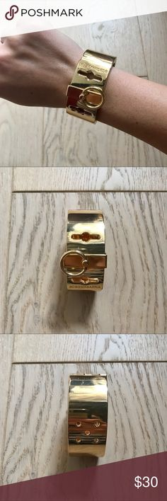 Bcbgmaxazria bracelet Bcbgmaxazria bracket. Magnetic closure. Has some signs or ware. Little scratches pictured above BCBGMaxAzria Jewelry Bracelets