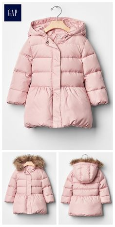 Warmest down peplum puffer