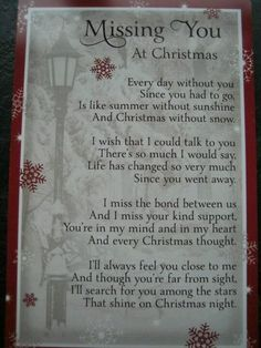 Christmas just isn't the same without you Daddy. I know you will enjoy your first Christmas in heaven.